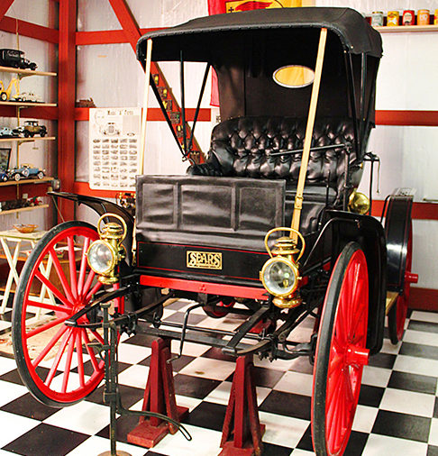 Check out this Sears, Roebuck and Company 1909 Motor Buggy